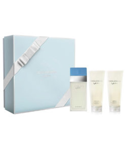 Presenttips parfym, Dolce & Gabbana Light Blue EdT Gift Set: EdT 100ml+BC 100ml+SG 100ml