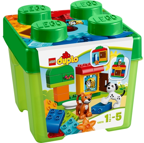 En duplo present. En bra present till de som gillar att leka med duplo. En present som låter mottagaren få leka med det traditionella duplo legot.