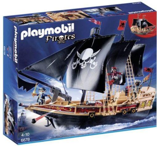 Present till barn som gillar pirater, Playmobil Pirates Piratskepp 6678