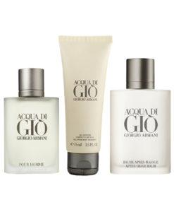 Presenttips parfym set, Giorgio Armani Acqua Di Gio Pour Homme Gift Set: EdT 50ml+ASB 75ml+SG 75ml