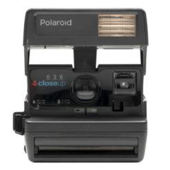 Polaroid kamera svart
