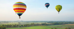 flera luftballonger