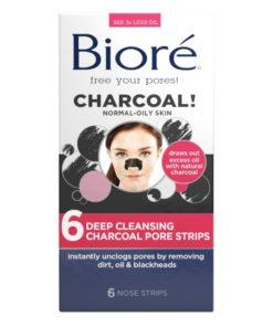 Presenter som rengör huden, Bioré Deep Cleansing Charcoal Pore Strips 6 st