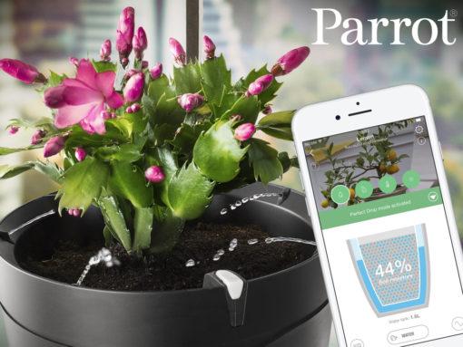 smarta presenter, Parrot Pot Smart Blomkruka Svart