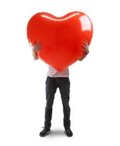 Romantiska presenter, Gigantiskt uppblåsbart hjärta