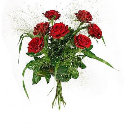 Skicka en bukett med rosor