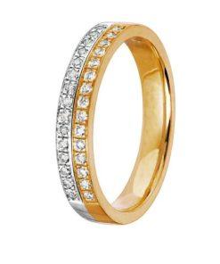 Diamantring i äkta guld 18K