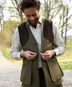 Combrook tweed shooting waistcoat